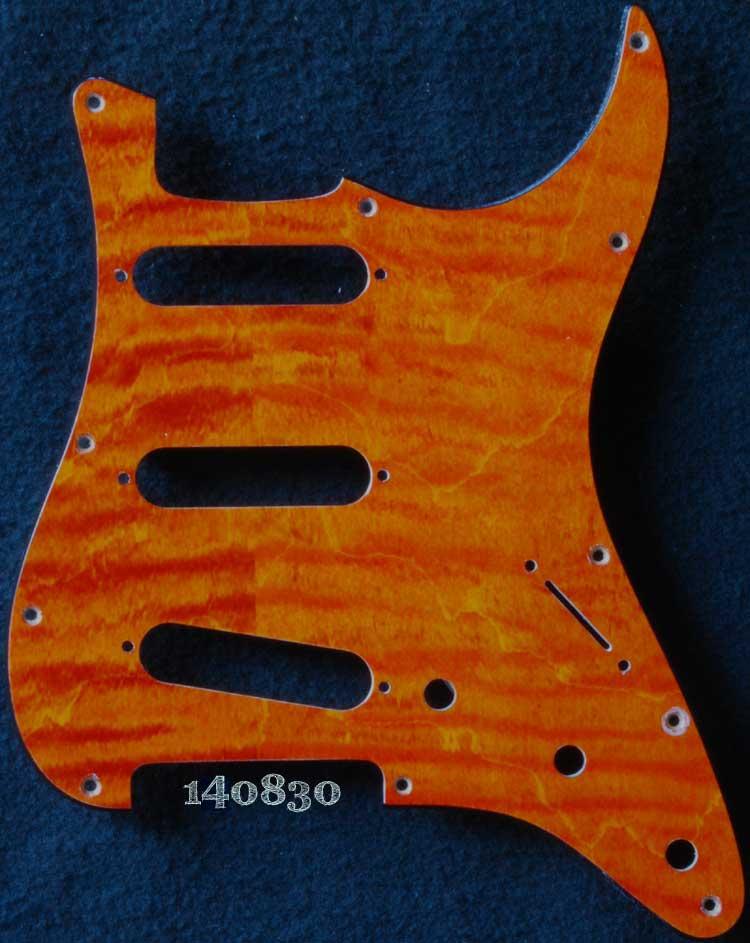 orange curly strat maple pickguard 830
