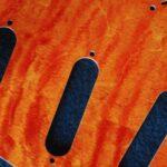 detail image orange curly strat pickguard 830a
