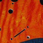 detail image orange curly strat scratchplate 830c