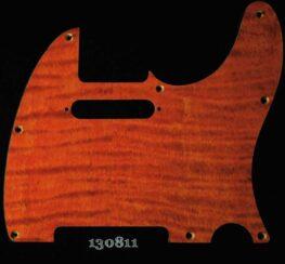 orange curly tele maple pickguard 811