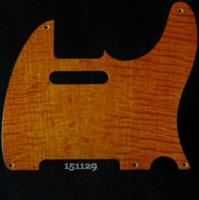 orange figured tele maple pickguard 129