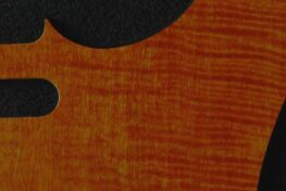 detail image orange figured tele pickguard 129a
