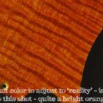 detail image orange figured tele pickguard 129b