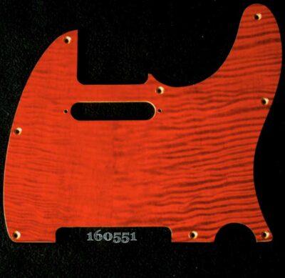 orange figured tele maple pickguard 551