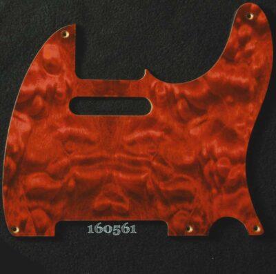 orange quilted tele maple pickguard 561