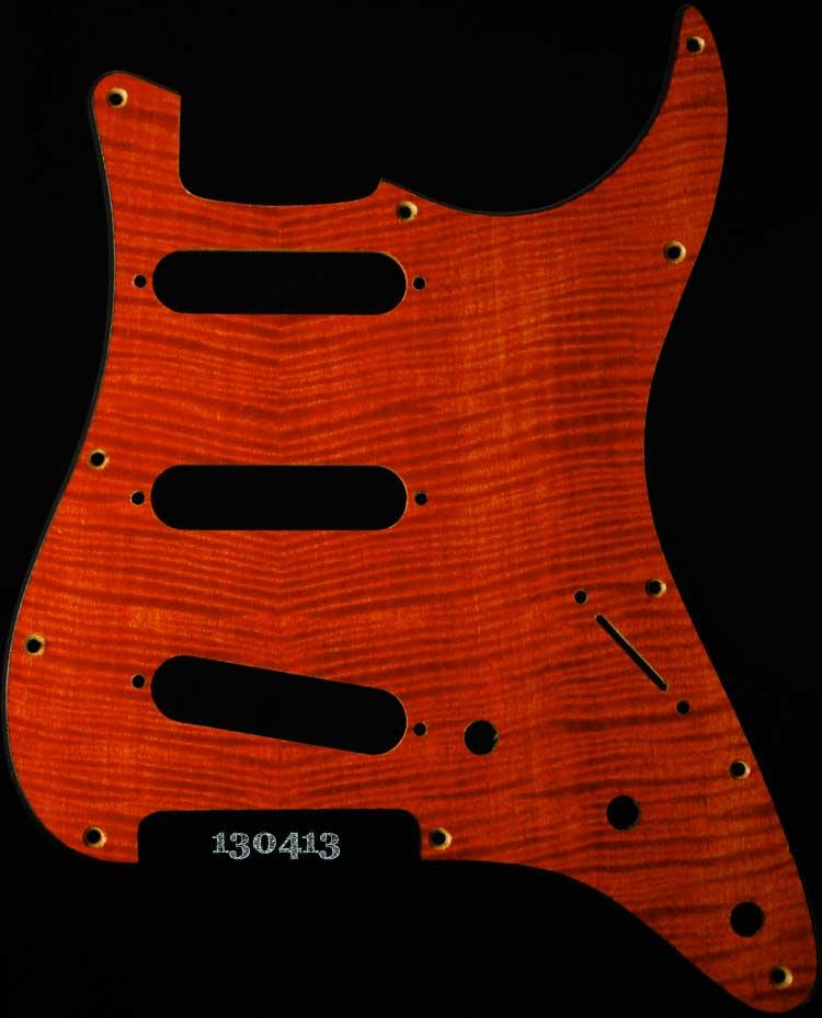 orange strat maple pickguard 413