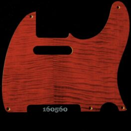 red figured tele maple pickguard 560