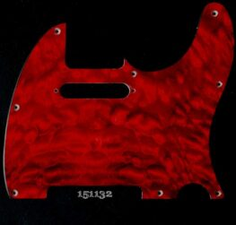 red quilt tele maple pickguard 132