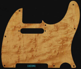 tele natural birdseye maple pickguard 341