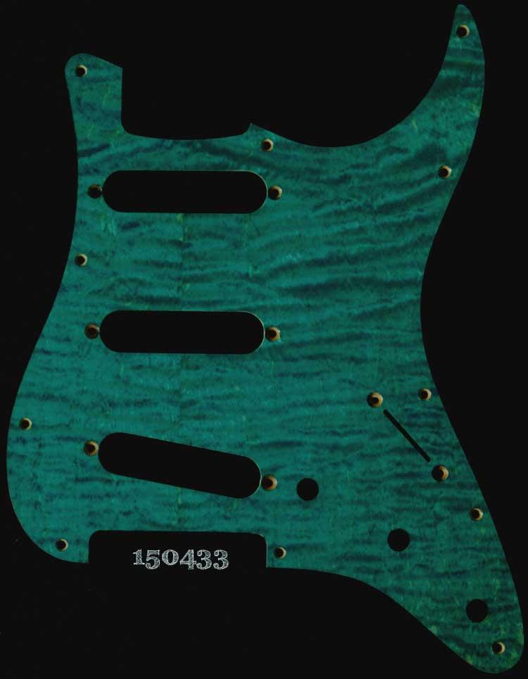turquoise strat maple pickguard 433