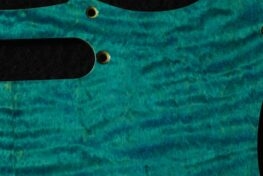 detail image turquoise strat maple pickguard 433