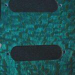 aqua silky oak Strat pickguard detail 3