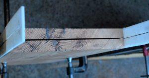 handsaw split Oregon blank