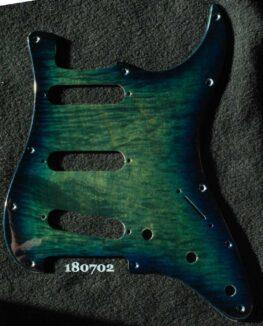 aqua blue burst Strat pickguard