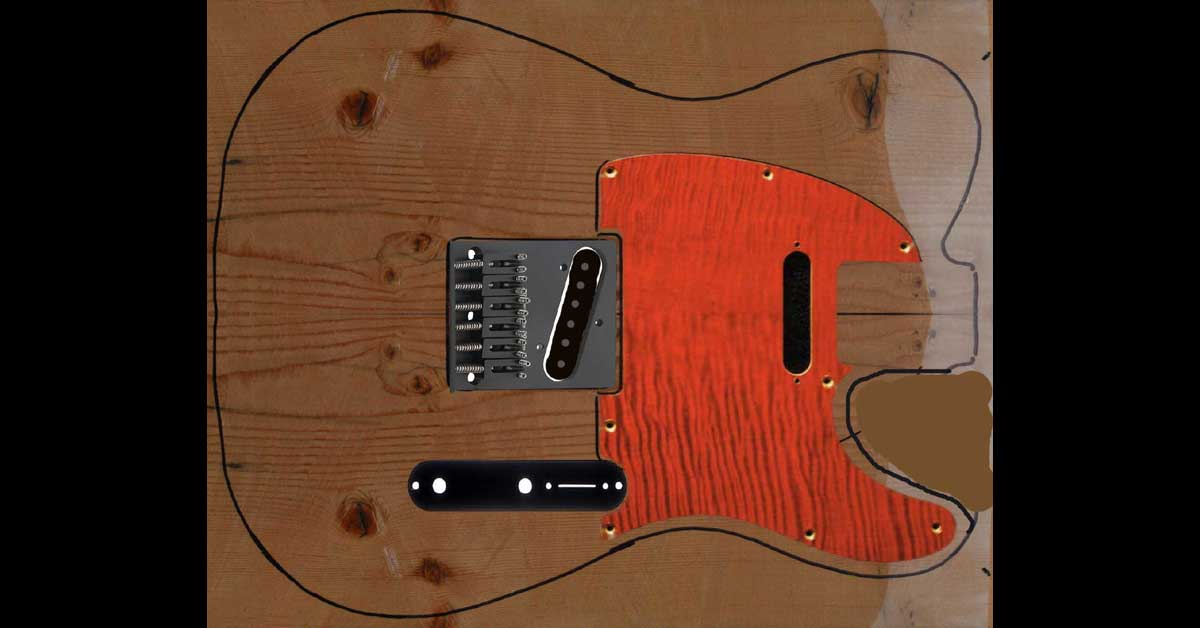 telecaster bookmatch decided and cut