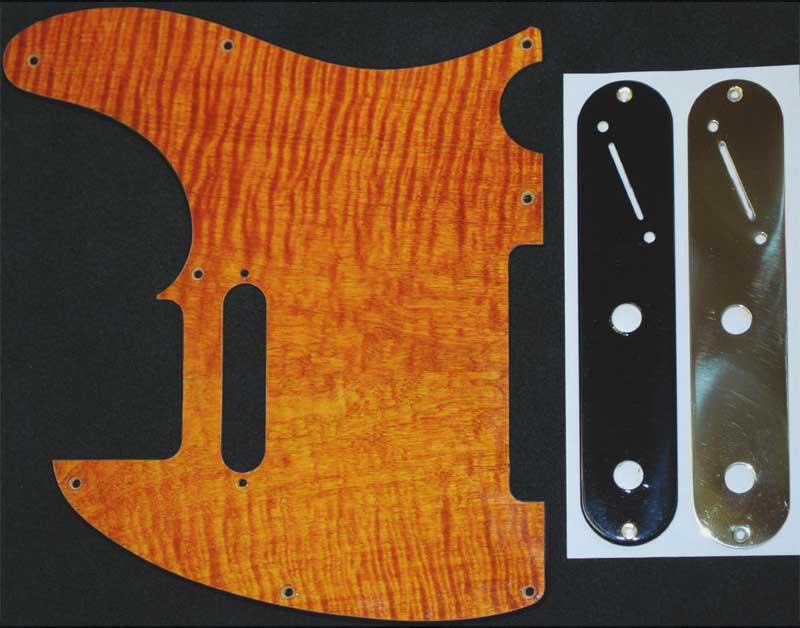 Orange Tele maple pickguard brass control plates