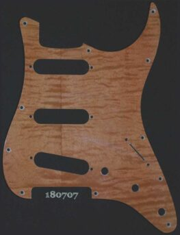 brown/tan curly maple Strat pickguard