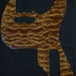 Custom Quilted Maple pickguard for Walnut Tele
