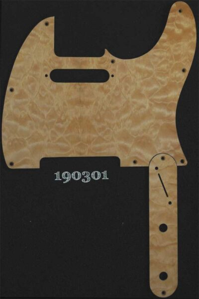 Tele Set natural quilted maple pickguard and control plate