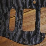black quiled maple pickguard