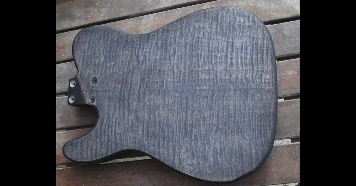 rear stain sanded back