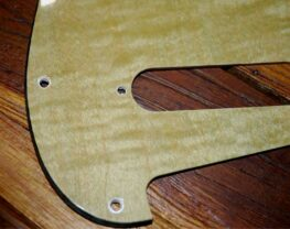 Lime Figured Strat pickguard
